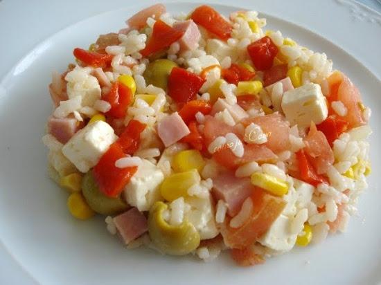 Ensalada agridulce con arroz y jam n alicia crocco - Arroz con alcachofas y jamon ...