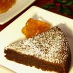 torta de chocolate y almendras