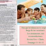 Clarín Viva  Comida en la playa. consejos