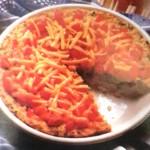 tarta de arroz y porotos
