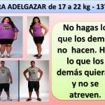 PARA ADELGAZAR DE 17 A 22 kg. -13 día