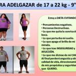 PARA ADELGAZAR DE 17 A 22 kg. -9 día