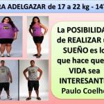 PARA ADELGAZAR DE 17 A 22 kg. -14día