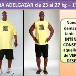 PARA ADELGAZAR DE 23 AL 27 kg. - 1 día