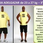 PARA ADELGAZAR DE 23 AL 27 kg. -3 día