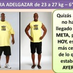 PARA ADELGAZAR DE 23 AL 27 kg. -6 día