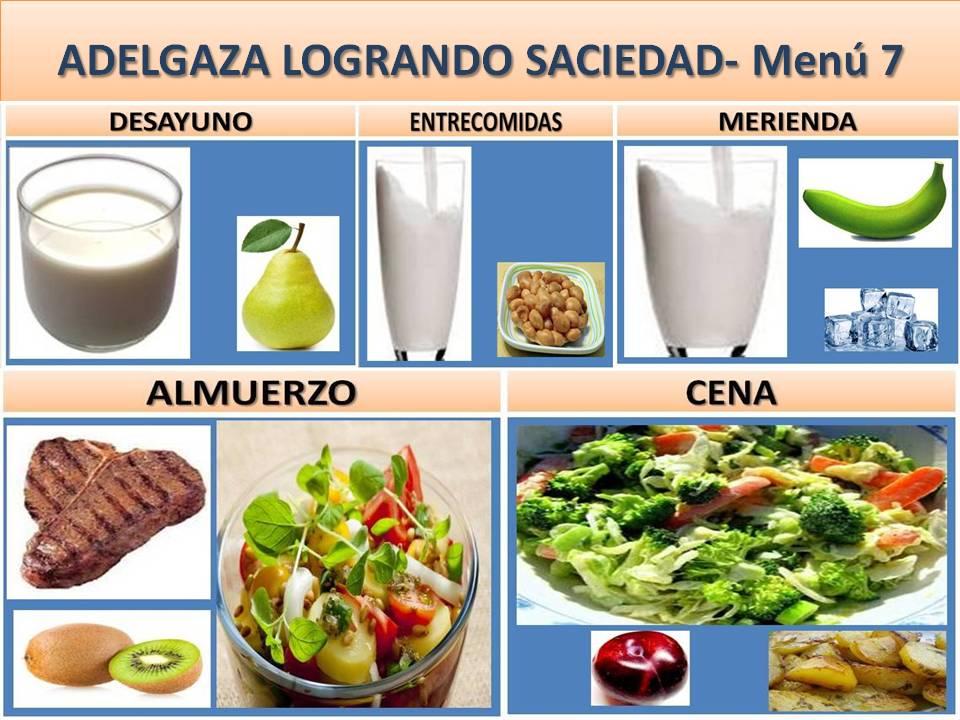 ADELGAZA LOGRANDO SACIEDAD- Menú 7
