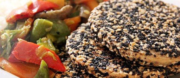 milanesa de soja con semillas
