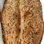 pan de campo con semillas