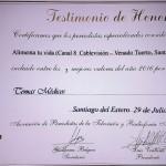 Diploma de terna en el rubro Temas Médicos